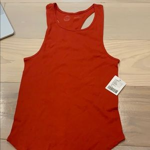 Urban outfitters - red ribbed tank top